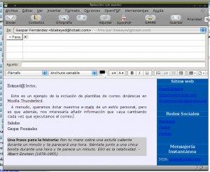 Nuevo mensaje en Mozilla Thunderbird