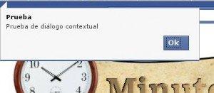 Diálogo contextual de Facebook