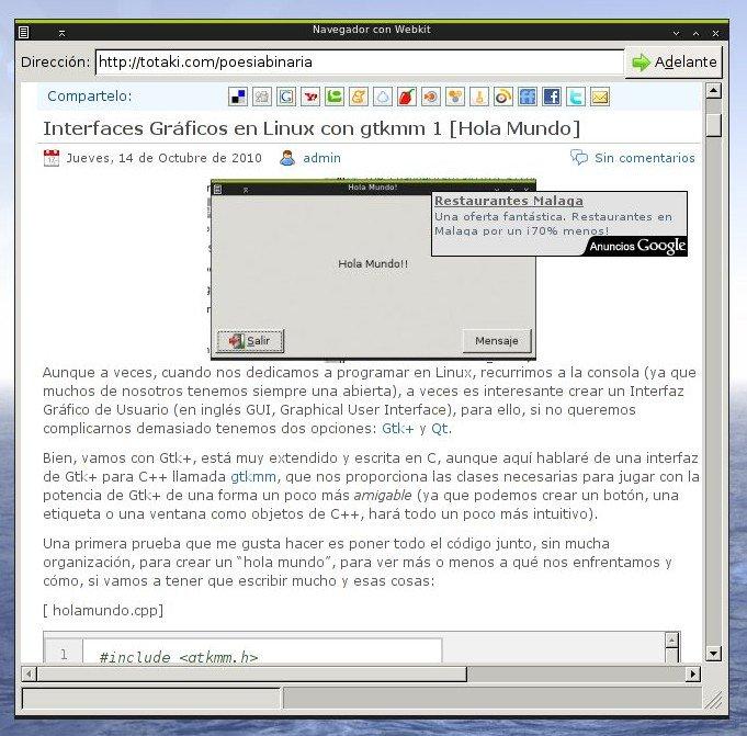 Creando un navegador web basado en gtkwebkit y gtkmm [Actualizado: 15/11/2010]