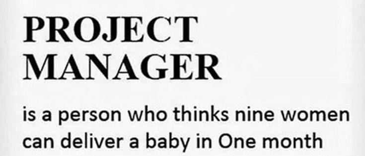 Nueve mujeres no pueden tener un niño en un mes