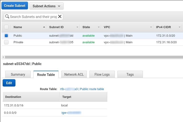 Crear subnets dentro de la VPC