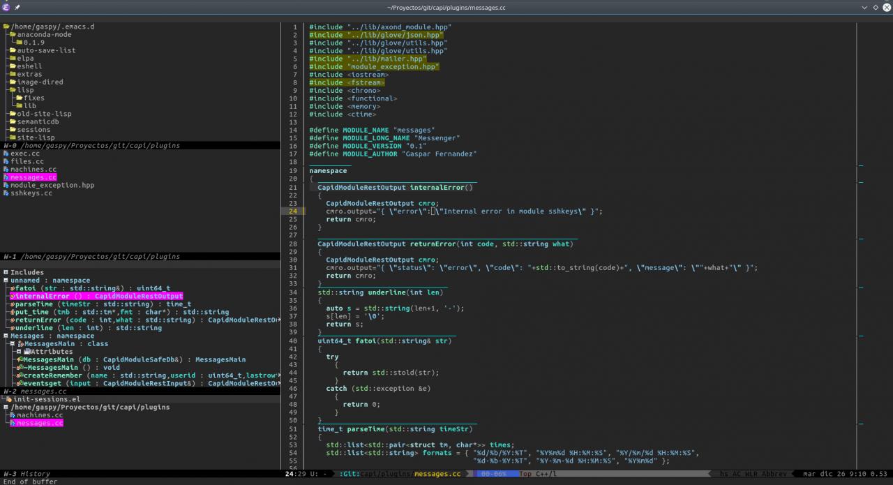 EMACS CEDET Screenshot