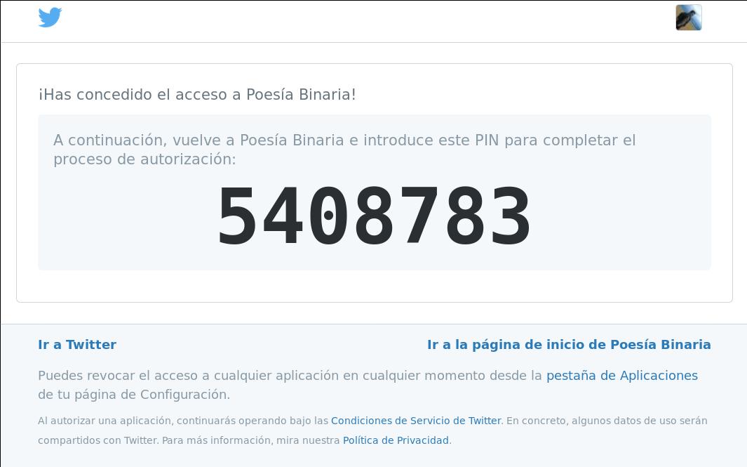 PIN Twitter