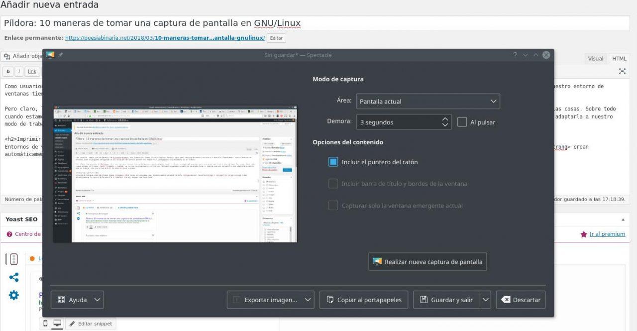 Captura de pantalla KDE Plasma